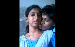 Indian school students kissing on..