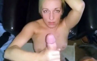 Cute young blonde amateur pov..